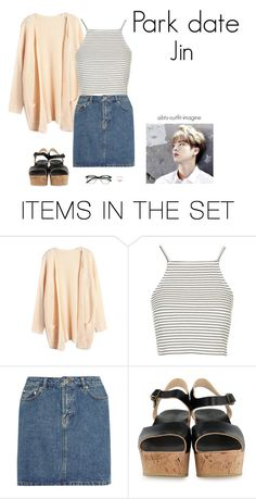 """""""park date (jin)"""" by effie-james ❤ liked on Polyvore featuring art, simple, kpop, korean, bts and jin"""