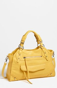 There's something about a yellow purse... it just looks fresh!   Jessica Simpson 'Melrose' Faux Leather Satchel available at #Nordstrom