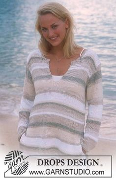 DROPS Pullover in Bomull-Lin, Paris, Passion and Cotton Viscose Free pattern by DROPS Design.