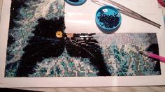 FC004  - les 3 Fun Cats, j'en suis à la moitié du tableau 30x30 cm