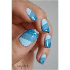 Head over Heels - Top 99 Blue Nail Art Designs Blue Nail Designs, Short Nail Designs, Nail Polish Designs, Simple Nail Designs, Nails Design, Awesome Nail Designs, Blue Nails With Design, Fingernail Designs, Blue Design