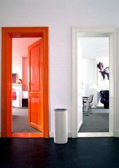 Miss Renaissance #orange #white #door