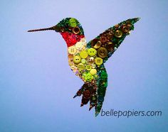8x10 Button Art Swarovski Rhinestone Art by BellePapiers on Etsy, $164.00