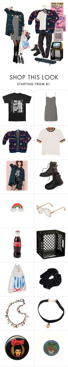 """""""skate thru alleyways at 3am"""" by ghoulgirls ❤ liked on Polyvore featuring Oh My Love, Andy Warhol, Monki, American Eagle Outfitters, Orelia, Cazal, Sony, Ashish, Venessa Arizaga and daria"""