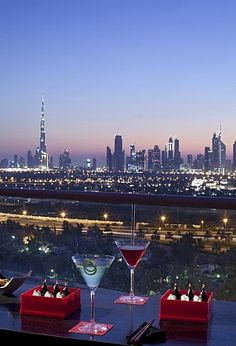 The view from Red Lounge Terrace Dubai