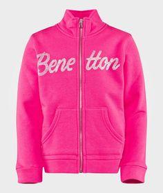 United Colors of Benetton Logo Sweater Fuschia FUSCHIA 32U Stylish Little Girls, Benetton, Baby Shop, Adidas Jacket, The North Face, Athletic, Logo, Colors, Summer