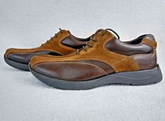 Kenneth Cole Reaction Shoes Mens 8.5 Leather Suede Brown Casual Lace Up Euro 42 #KennethColeReaction #Oxfords