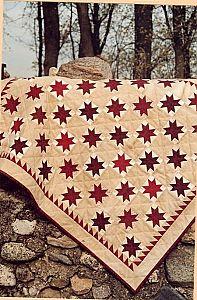 Red & White Stars Quilt Pattern