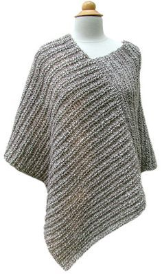 Amagansett Poncho - This would be easy to crochet using a half double stitch : www.daniellehatfi...