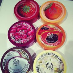 the body shop body butters! The raspberry One is to die for!