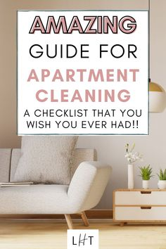 Wow! This apartment cleaning checklist is so amazing and so easy to follow. I want to keep everything organized but my place is a bit big and I just don't know where to start lol. I think learning a few cleaning hacks should resolve my problem. I'll prioritize cleaning our living room today Couples First Apartment, First Apartment Checklist, First Apartment Essentials, Cleaning Checklist, House Cleaning Tips, Cleaning Hacks, Cute Apartment, Apartment Cleaning, Messy Bedroom