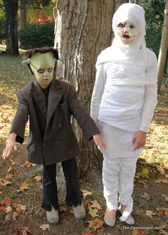 frankenstein mummy children's halloween costume