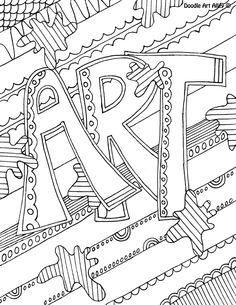 Subject Doodle Art Sub PlansColoring SheetsAdult