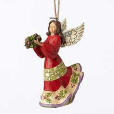 Holly Angel Ornament - 4053843 $20.00