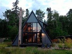 minimalist a-frame house