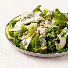 WeightWatchers.fr : recette Weight Watchers - Salade verte à la poire et au fromage bleu
