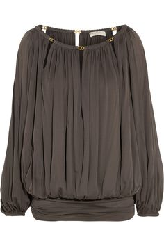Emilio Pucci | Chain-embellished draped jersey top