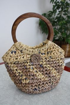 Crocheting with recycled plastic bags