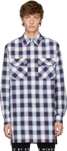 Ports 1961 - Multicolor Check Casual Over Shirt #shirts #ports1961