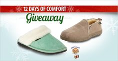 Welcome to day 1 of FootSmart's 12 Days of Comfort Giveaway. Enter to win today a pair of Old Friend slippers for the chilly winter months. #12DaysofComfort