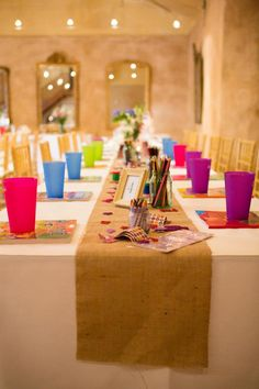 Kids wedding reception table   DIY Rustic Barn wedding reception set up  Al Ru Farm, One Tree Hill, SA