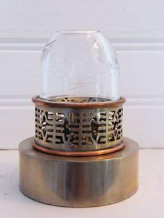 A very nice paktung and copper opium lamp with longevity sings Shanghai region 1920