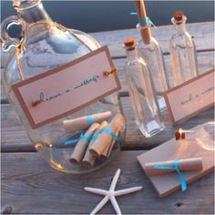 Message in a bottle guest book...use an empty tequila bottle for a mexican theme :)