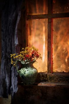 rustic cottage window