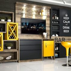 Home Bar Holz Source by KreativHausDekoration Home Bar Counter, Bar Counter Design, Home Bar Cabinet, Small Bars For Home, Mini Bar At Home, Bar Furniture For Sale, Modern Home Bar, Balkon Design, Coffee Bar Home