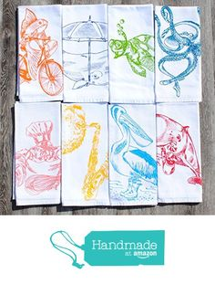Nautical Cloth Dinner Napkins Set of 8 from Heaps Handworks