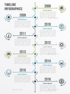 Vertical Timeline Infographics Template PSD, Vector EPS, AI Illustrator