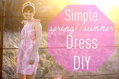 simple spring//summer dress DIY -