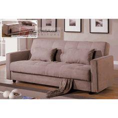 Delightful Dana Point Mocha Microfiber Storage Futon Sofa Bed Sleeper