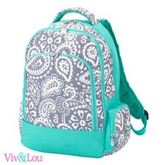 94b21222d06 4 Piece set in Parker Paisley Design. Backpack with Matching Colorful  Backpacks