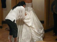 There are 5 common alterations that need to be done on wedding dresses. A shoulder lift, side seams taken in, side seams let out, a bustle, ...