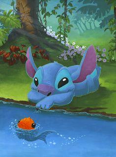 Disney Magical World 2 Stitch Cute Disney, Disney Art, Lilo And Stitch 3, 626 Stitch, Disney Magical World, Toothless And Stitch, Disney Stich, Disney Fanatic, Cool Cartoons