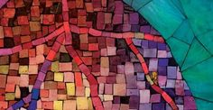 Not a quilt; I think it's a mosaic in Scotland; but the colors and feel, I love.