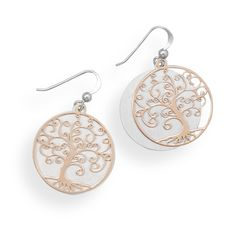 Two Tone Tree Earrings