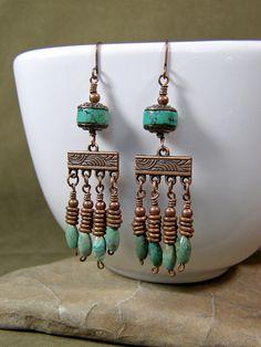 Turquoise Earrings  Chandelier Earrings  by StoneWearDesigns