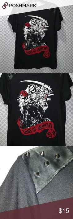 Sons of Anarchy Jax/Reaper Studded Shirt SOA Jax/Reaper shirt with studs on the shoulders. Size XL Tops