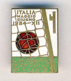 1934 FIFA Soccer World Cup OFFICIAL PIN Badge Football Calcio ITALY Italia   | eBay