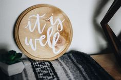 It Is Well Handlettered Wood Sign // by BlankPageLettering on Etsy