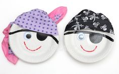 Paper Plate Pirates Kids Craft Idea - Art Projects for Pirate Party Decorations
