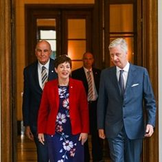King Philippe of Belgium receives Governor of New Zealand Patsy Reddy