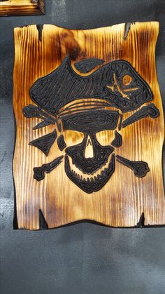 free-hand routed pirate image
