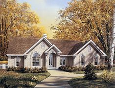 Elevation of Traditional   House Plan 87379