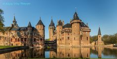 """""""De HAAR"""" Castle, Utrecht, Netherlands - The Oldest Historical Records show the De Haar Family Owned it from (1391-1440) Then it Passed to the Van Zuylen Family - In 2000, they Passed Ownership of the Castle and the Gardens (111 Acres) to the Kasteel de Haar Foundation. However, the Family Retained the Right to Spend One Month a Year in the Castle - The Dutch Society Natuurmonumenten Bought the Remaining Estate of 988 Acres and Initiated an Extensive Restoration of the Castle and the Gardens"""