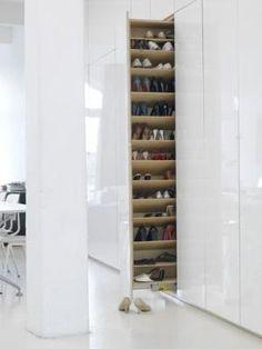 Rangement chaussure coulissant #Rangement #Chaussures par Nettie