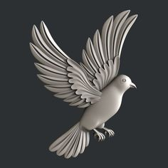 STL models for CNC router dove - models for cnc router or printer Wood Carving Designs, Wood Carving Patterns, Grayscale Image, Stl File Format, Cement Art, Plaster Art, 3d Cnc, Modelos 3d, Mural Wall Art