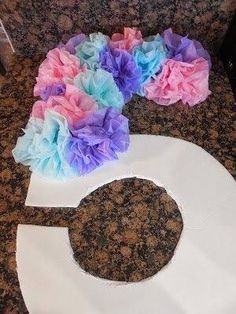 Diy Party Decoration with tissue paper